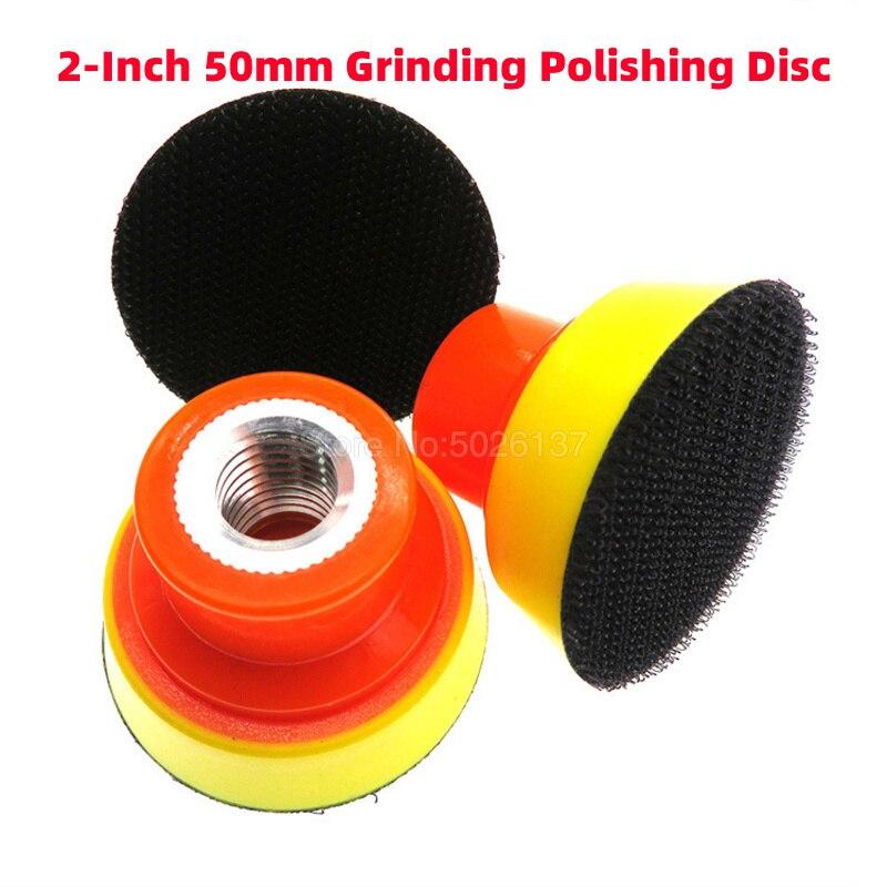 1Pcs 2 Inch 50MM Sticky Disc Polishing Plate Backing Pad Sponge Car Wash Tools Machine Tray Pneumatic Sanding Sander