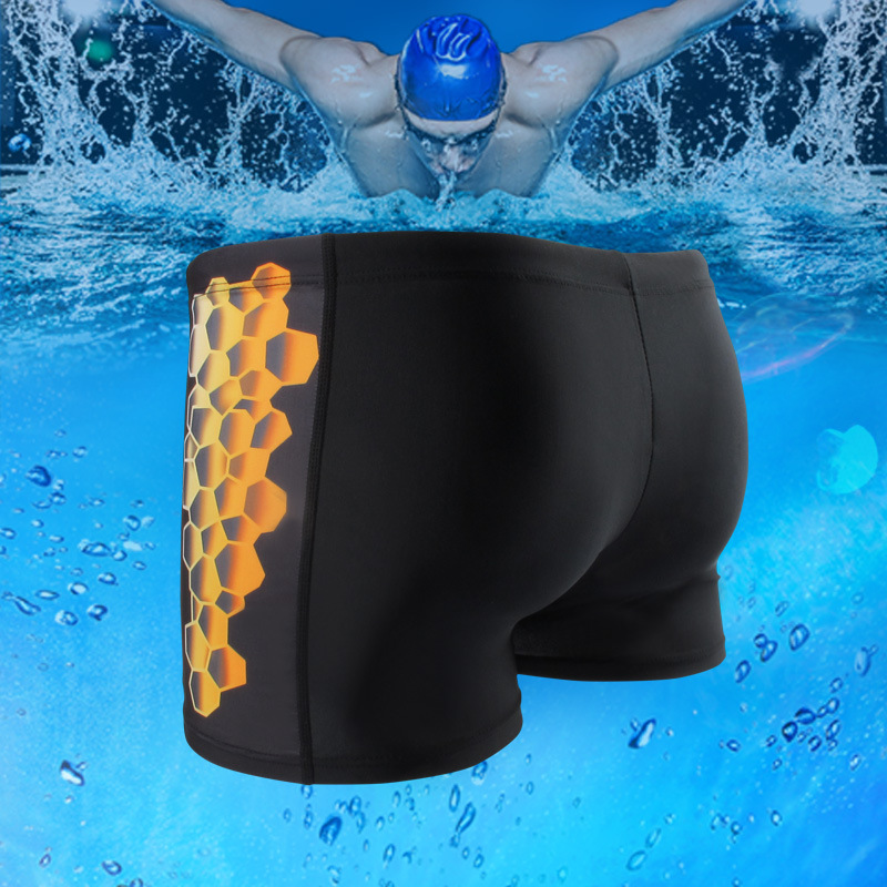 Yi Duo Lotus Swimming Trunks Fashion Goods Beach Fashion Printed Hot Springs Swimming MEN'S Boxers Breathable And Comfortable To