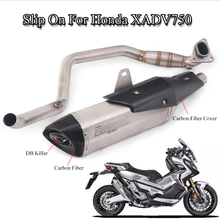 XADV750 Full Exhaust System Pipe Motorcycle Front Link Pipe & Muffler Tail With DB Killer For Honda X-ADV750 Modified Slip On motorcycle exhaust system muffler db killer system full exhaust muffler pipe front link pipe escape silencer for honda msx125