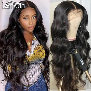 30Inch Transparent HD Lace Wig 13x6 Body Wave Lace Front Human Hair Wigs Lace Closure Wig 360 Lace Frontal Wigs Lemoda Hair(China)