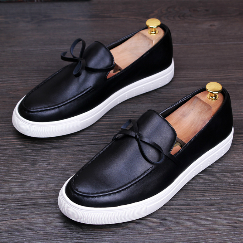 New Arrival Mens Casual Business Office Formal Dress Breathable Cow Leather Shoes Slip-on Lazy Shoe Flats Platform Loafers Male