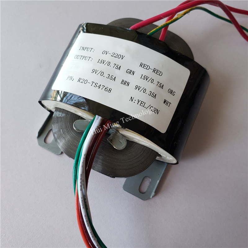2*15V 0.75A 2*9V 0.35A Transformer R Core R20 <font><b>30VA</b></font> custom transformer 220V input copper shield for power supply image