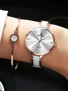 Switzerland BINGER, роскошные женские часы, бренд, кристалл браслет моды, часы для женщин, наручные часы, часы для женщин, B-11855