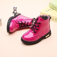Jesień zima 2019 buty dla dzieci dziewczyny różowy krótki buty dzieci Martin buty ręcznie skórzane buty maluch buty dla dzieci trampki w Buty od Matka i dzieci na