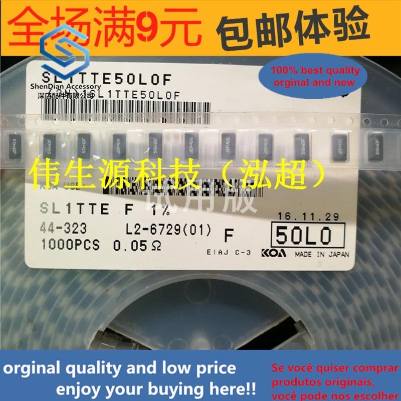 20ppcs 100% Orginal New SL1TTE50L0F 2512 0.05R 50MRF 1% 1W SMD Molded Current Sensing Resistor