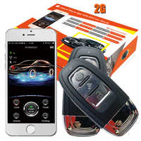 cardot 2g promotional smart phone app car security alarm system with engine start stop button