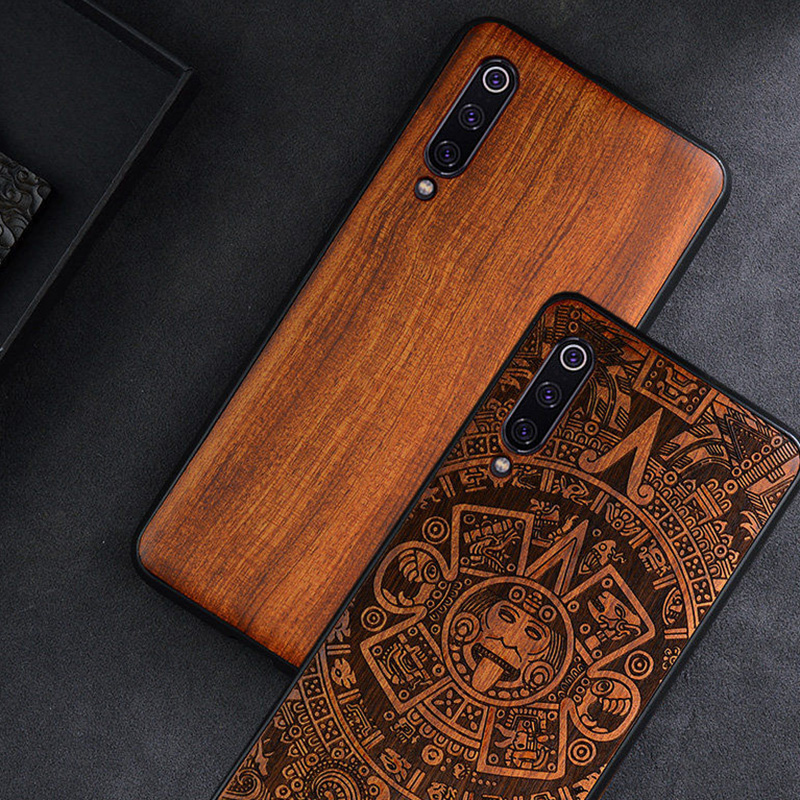 Phone Case For Xiaomi Mi 9T Mi 10 9 8 Mix 3 2S 2 Original Wood Case For Xiaomi Redmi K20 K30 Pro Note 8 Phone Accessories