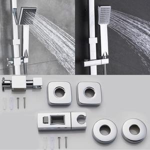 Image 4 - Rozin cabina de ducha cromada, juego de grifería, mezcladores de ducha de lluvia para baño, toalla caño giratorio, grúa de ducha, grifo mezclador frío caliente