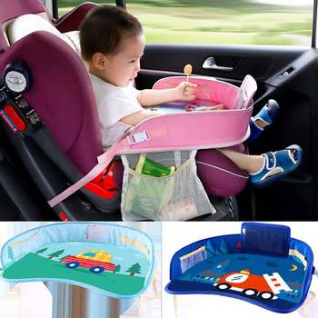 Car Table Kids Waterproof Table Seat Tray Storage