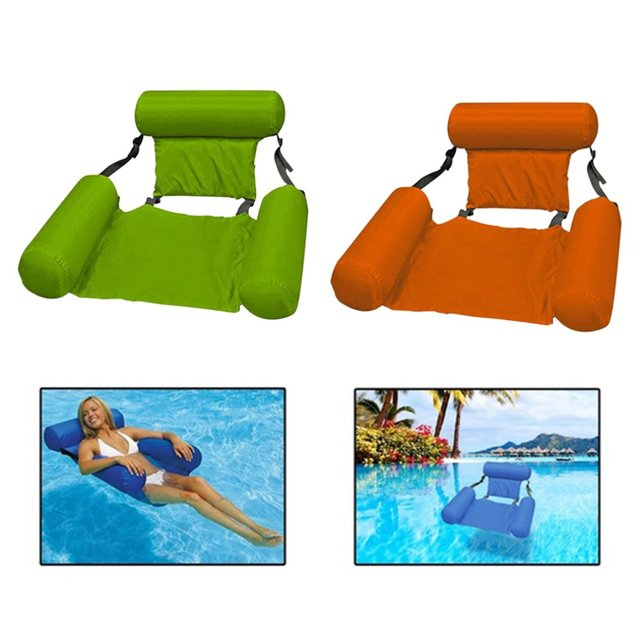 Outdoor Folding Water hammock Recliner Inflatable Floating Swimming Mattress Sea Floating Chair Lounge Chair For Pool Party 2