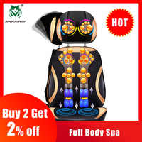JinKaiRui Vibrating Electric Cervical Neck Back Body Cushion Massage Chair Massage Muscle Stimulator with Heating Device
