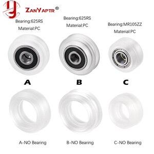 10pcs High precision CNC clear Polycarbonate Xtreme v Mini wheel for Openbuilds v-slot linear rail system(China)