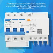 DZ47LE-63 3P+N C63 RCCB Residual Current Circuit Breaker 230V 63A 30mA air switch circuit breaker dz47le residual current circuit breaker with surge protector rcbo small mcb rccb with lightning protection spd