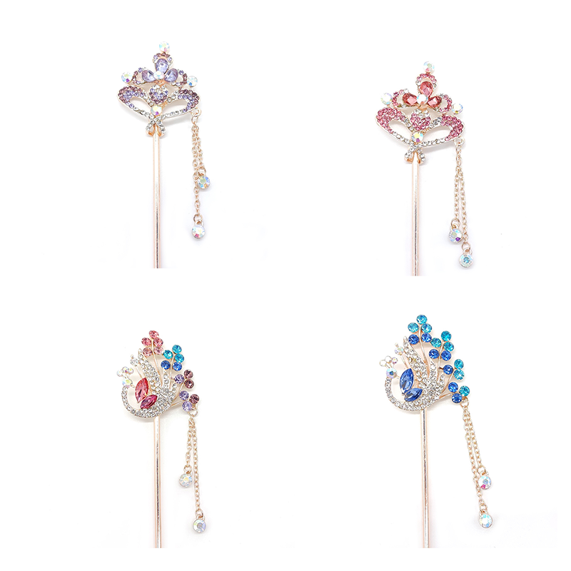 Fashion Copper Phoenix Hairpin Diy Accessories Lots Hole Charm Making Spacer