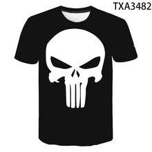 2021 yaz Punisher 3D T shirt erkek kadın çocuk rahat moda Streetwear erkek kız çocuklar baskılı tişört serin üstleri Tee110/6XL