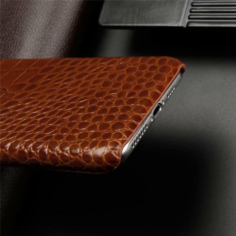 Genuine Leather Crocodile Grain Case for iPhone 11/11 Pro/11 Pro Max 7