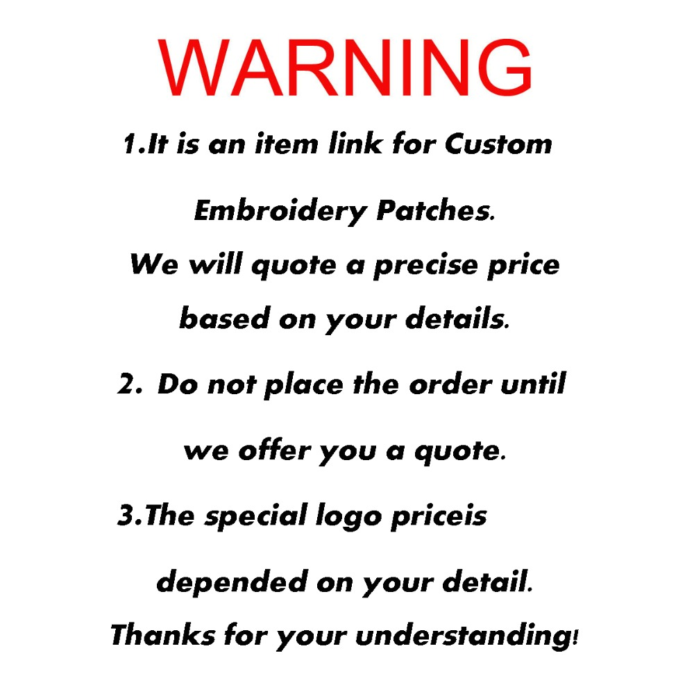 Wholesale custom embroidered iron on brand patches DIY design text name NO MOQ Free shipping