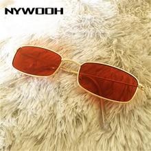 NYWOOH Small Rectangle Sunglasses Women Men Retro Sun Glasse