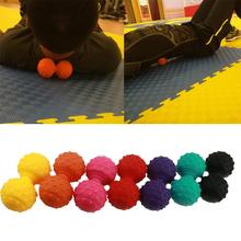 Fitness Ball Silicone Spiky Massage Double Ball Yoga Roller Muscle Pain Relief Body Massager