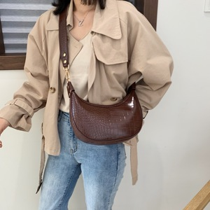 Image 2 - Stone Pattern Retro PU Leather Crossbody Bags For Women 2021 Small Shoulder Simple Bag Lady Phone Handbags and Purses