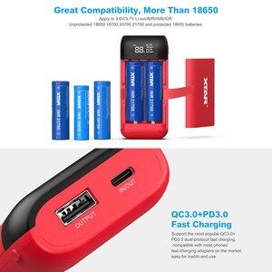 Image 3 - Xtar Batterij Oplader PB2S QC3.0 Snel Opladen 18650 18750 20700 21700 Batterijen Power Bank Functie Draagbare Usb Lader 18650