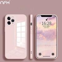 Custodia per telefono in vetro temperato Candy per iPhone 12 Pro 11 Pro X XS XR Xs Max 12 Mini protezione Cover posteriore su iPhoen SE 2020 7 8 Plus