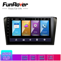 Funrover 2.5D+IPS 2 Din android 9.0 car multimedia dvd radio For Mazda 3 Mazda3 2004 2009 car dvd gps Navigation stereo Player