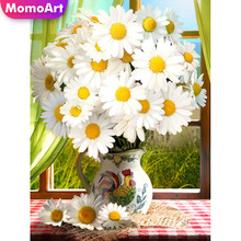 MomoArt 5D Full Drill Square Diamond Painting Flowers DIY Diamond Embroidery Daisy Cross Stitch Home Decoration Gift momoart 5d full drill square diamond painting flowers diy diamond embroidery daisy cross stitch home decoration gift