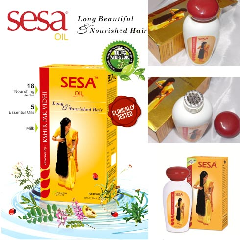 India Sesa Hair Oil For Healthy Hair Prevents Dandruff Hair Loss Greying Of Hair 100% Ayurvedic 90ml-XF DZ