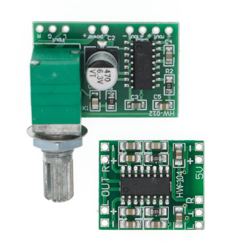 PAM8403 Module Super Digital Amplifier Board 2 * 3W D Class Digital Amplifier Board Efficient Switch Potentiometer