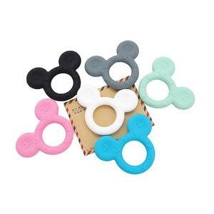 Image 2 - Chenkai 10 sztuk silikonowe gryzaki Baby Cute Cartoon ząbkowanie BPA bezpłatne dla majsterkowiczów niemowląt manekin Sensory smoczek akcesoria