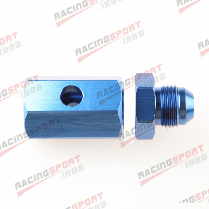 8AN AN8 Aluminum Fuel Cell Tank Roll Over Vent Valve In Mounted Blue