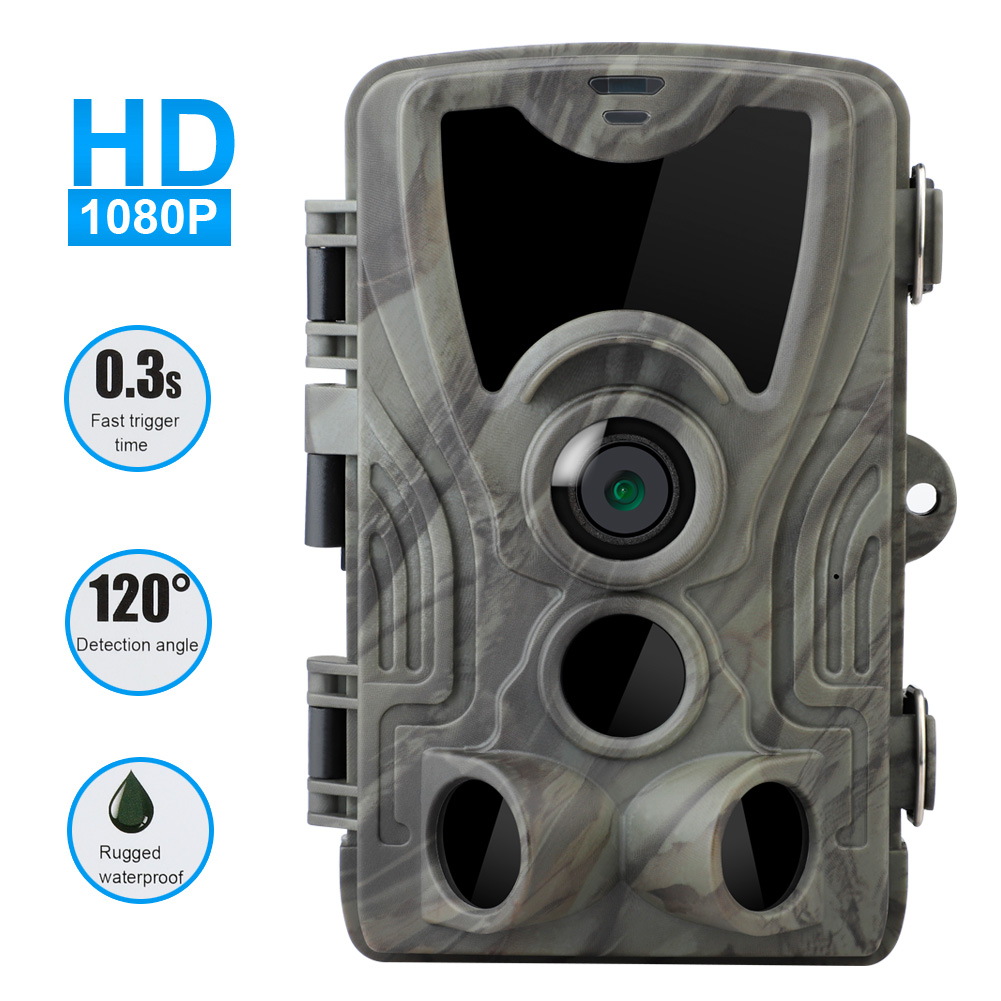 20MP HD 1080P Outdoor Hunting Trail Camera 2.0 inch TFT Screen Waterproof Professional IR Night Vision Wildlife Scouting Camera image