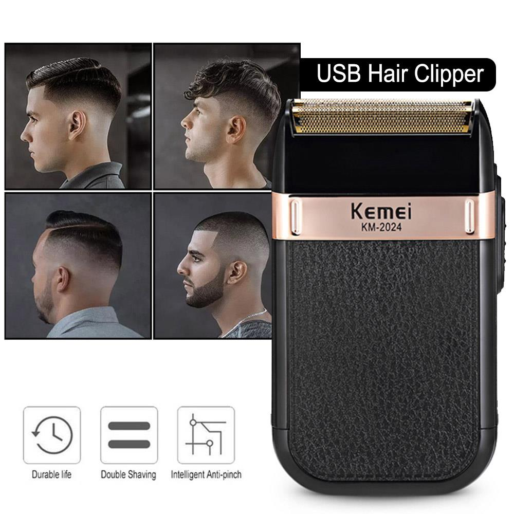 Imported From Abroad Barber Stainless Steel Usb Charging Hair Trimmer Painless Health Beauty Shaving Portable Razor Clippers Fashion