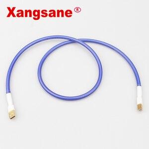 Image 5 - Xangsane אחת קריסטל נחושת כסף מצופה USB כרטיס קול קו DAC נתונים קו כיכר פה A B אודיו חום