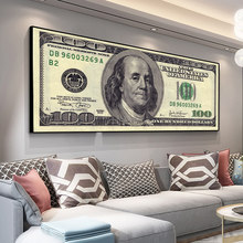 Dollar Inspirational Canvas Posters En Prints Bill Cash Amerikaanse Valuta Geld Schilderijen Wall Art Foto Woonkamer Decor