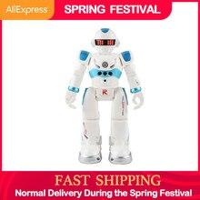 Afstandsbediening Robot Multifunctionele Usb Opladen Kinderen Speelgoed Rc Robot Zal Sing Dance Action Figure Gebaar Sensor robot