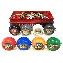 Conjunto de 8 Mini figuras SY Ninjagoes KAI JAY COLE Nya Kendo, juego de cápsulas Ninja de entrenamiento, bloques de construcción educativos, juguetes para niños, regalos