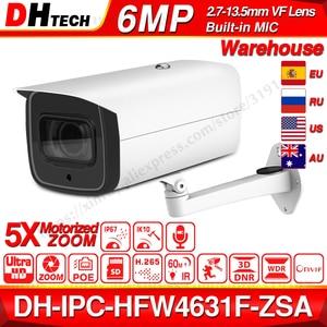 Dahua 6MP POE IP Camera IPC-HFW4631F-ZSA 2.7~13.5mm 5X Zoom VF Lens Bullet 60M IR Micro SD Card Slot Audio IP67 IK10(China)