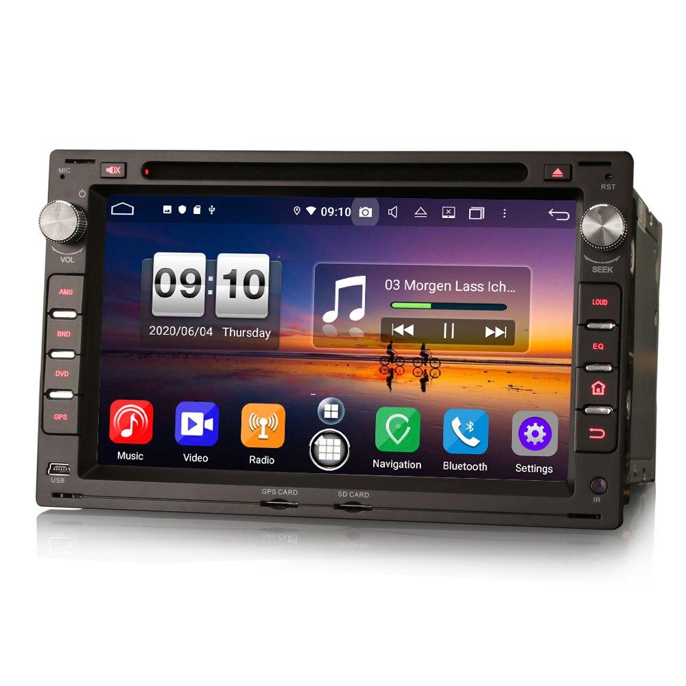 """7 """"sistema de rádio dos multimédios gps do carro dvd de android 10.0 os para peugeot 307 2001-2006 com construído-in carplay & funções automáticas de android"""