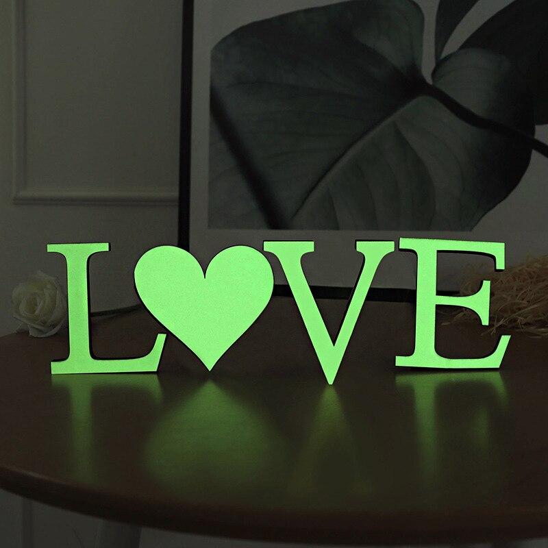 3D Luminous English Alphabet Wall Stickers Glow In Dark Fluorescent Art Murals Home Decor Peel & Stick Noctilucence Logo Poster