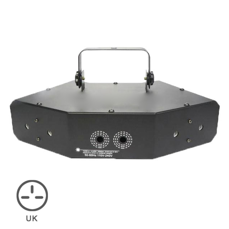 6 Lens Scan Lasers Light Line Beam Scans Music Show DMX DJ Dance Combinations Gobos Projector Indoor Bar Coffee Xmas S7