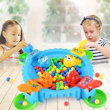 24Pcs Funny Toys Hungry Frog Eating Beans Beads Board Table Game Family Party Parent-child Interactive Educational Stress Relief(China)