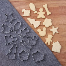 10 Pieces Cookie Stainless Steel Fondant Cake Biscuit Mould DIY 3D Pastry Cookie Cutters Cake Decorating Baking Tools Ice mold ttlife unicorn animal cookie cutter stainless steel fondant cake baking mold sugarcraft chocolate pastry diy tools biscuit mould