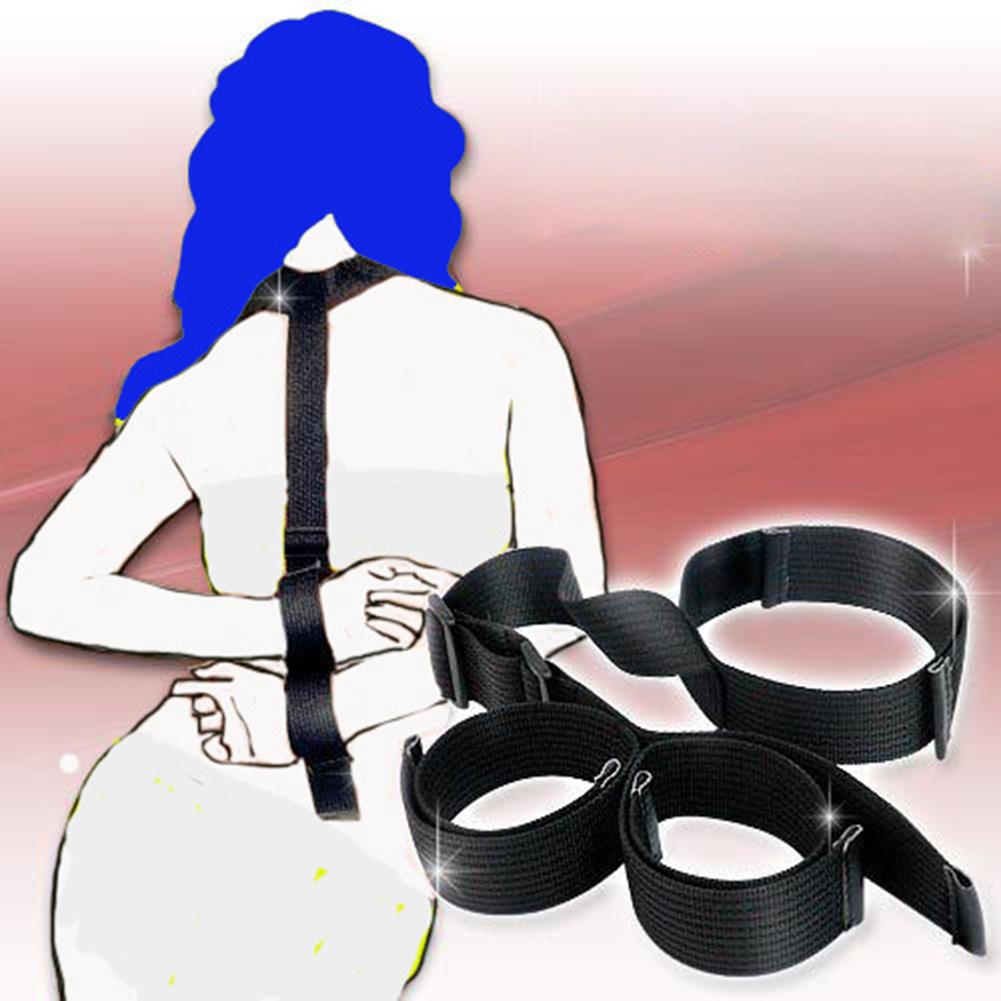 Neck Collar To Handcuffs Bondage BDSM Slave Fetish Couple Game Adult Sex Product Magic Tape Closure Easy To Put On Or Take Off