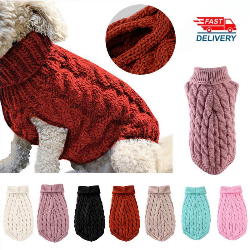 Cachorro quente gato camisola roupas inverno gola alta malha pet gato filhote de cachorro roupas traje para cães pequenos gatos chihuahua roupa colete 1