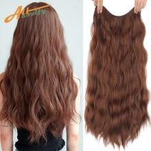 Allaosify v cut волнистые женские удлинители волос на клипсе