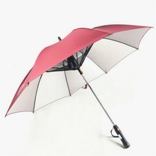 Practical Creative Electric Fan Umbrella Cut UV Dual-use Sunshade Summer Outdoor Must Have Breeze
