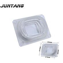 Светодиодный COB объектив отражатель интегрированный светильник диффузор силиконовое кольцо для 20 Вт 30 Вт 50 Вт светодиодный COB ac220в 110 В светодиодный DIY точечный светильник