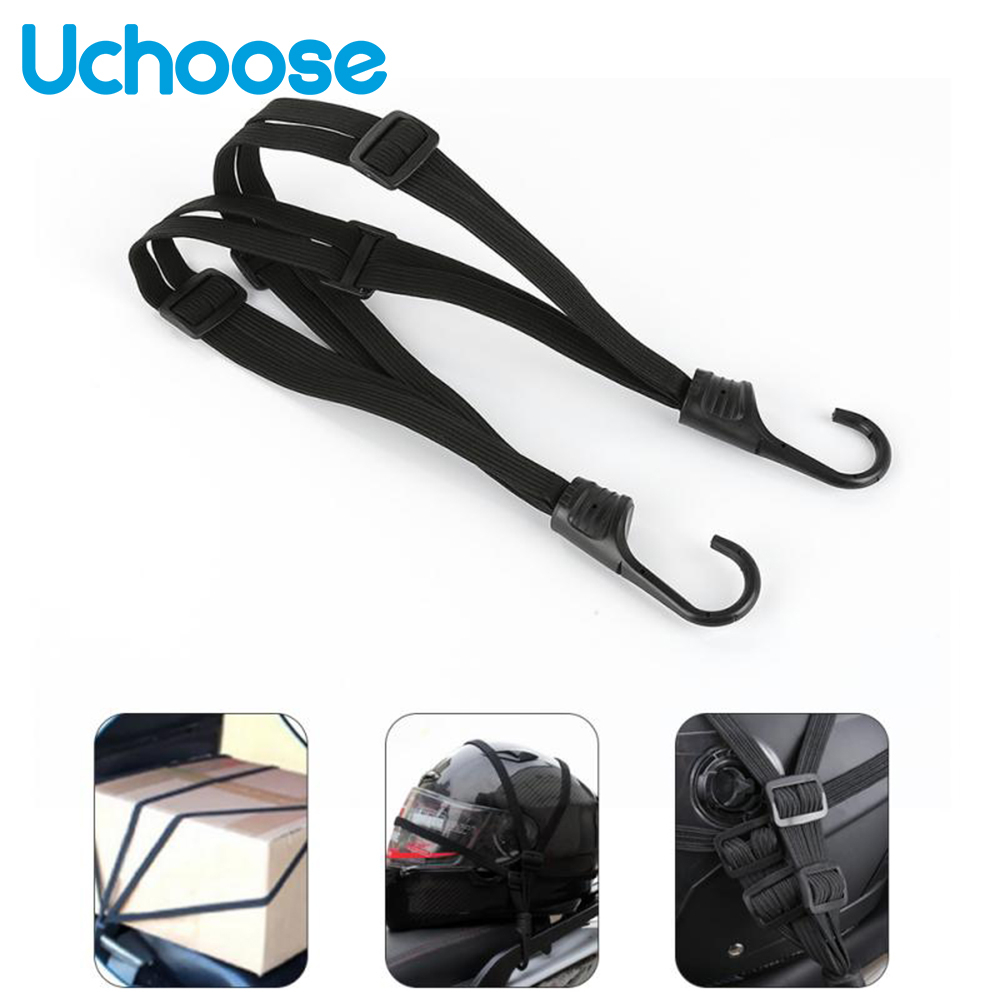 1pc 60CM Motorcycle Straps Motor Retractable Helmet Luggage Elastic Rope Luggage Bag Thick Bold Helmet Net Pocketelectric Car